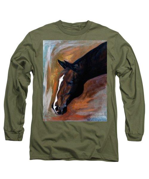 horse - Apple copper Long Sleeve T-Shirt