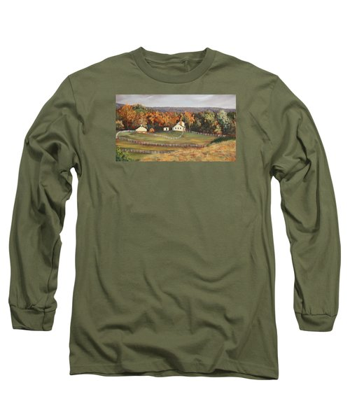 Horse Farm Long Sleeve T-Shirt by Alan Mager