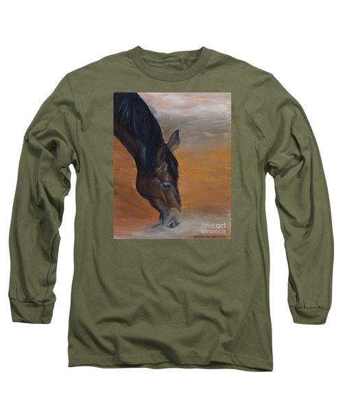 horse - Lily Long Sleeve T-Shirt by Go Van Kampen