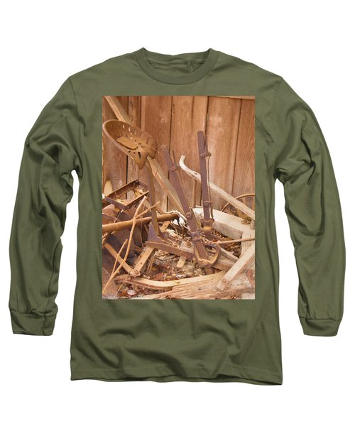 Long Sleeve T-Shirt featuring the photograph Horsedrawn Disc by Nick Kirby