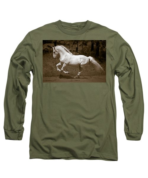 Horsepower Long Sleeve T-Shirt by Wes and Dotty Weber