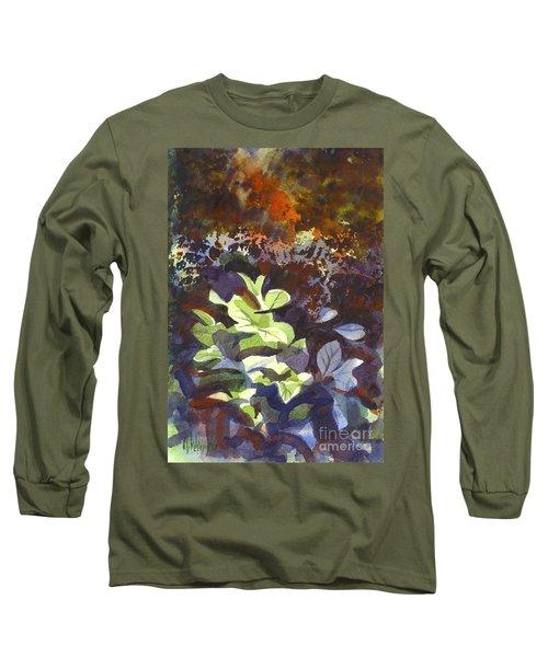 Hostas In The Forest Long Sleeve T-Shirt by Kip DeVore