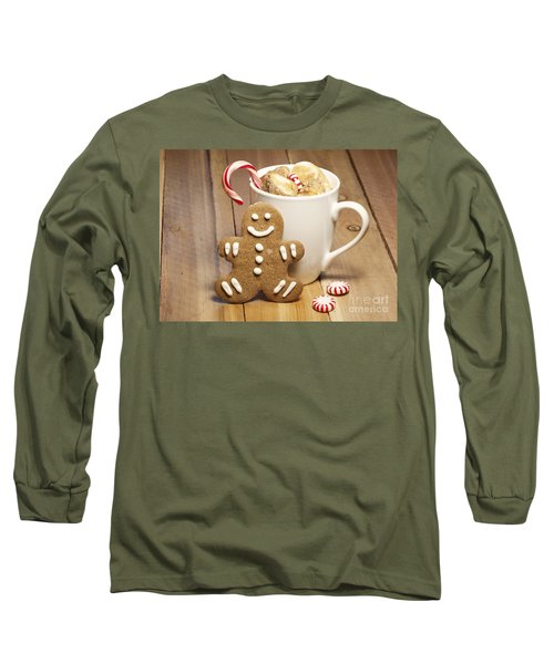 Hot Chocolate Toasted Marshmallows And A Gingerbread Cookie Long Sleeve T-Shirt