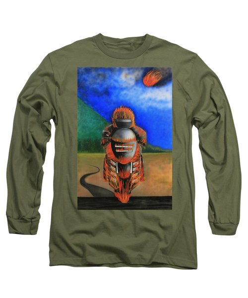 Hot Moto Long Sleeve T-Shirt by Tim Mullaney