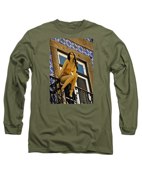 Hot Summer Day In Portugal Long Sleeve T-Shirt by Michael Cinnamond