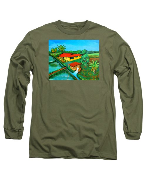 House With A Water Pump Long Sleeve T-Shirt by Cyril Maza