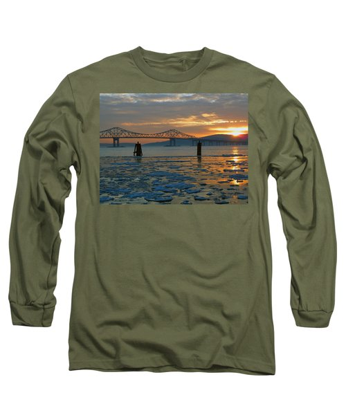 Hudson River Icey Sunset Long Sleeve T-Shirt