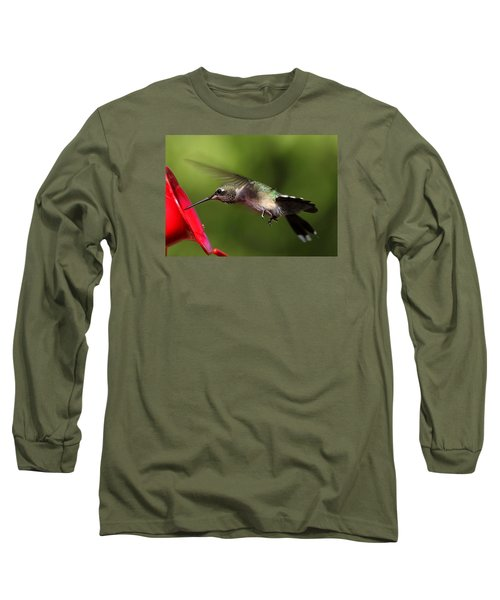 Look Hummingbird Eyelashes Long Sleeve T-Shirt