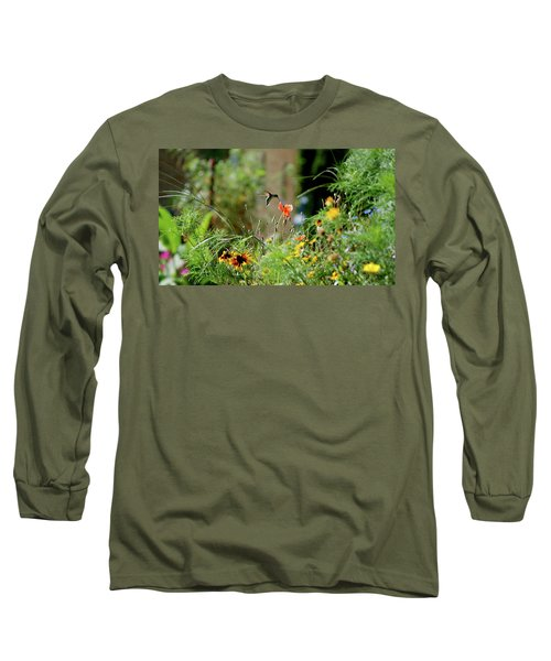 Long Sleeve T-Shirt featuring the photograph Humming Bird by Thomas Woolworth