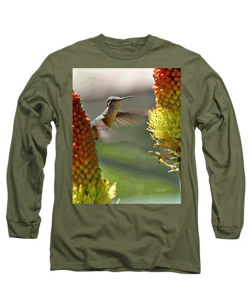 Hummingbird Feeding Long Sleeve T-Shirt