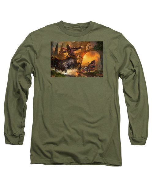Hunt The Hunter Long Sleeve T-Shirt by Ryan Barger