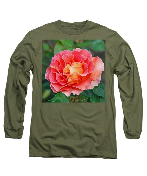 Hybrid Tea Rose  Long Sleeve T-Shirt by Lisa Phillips