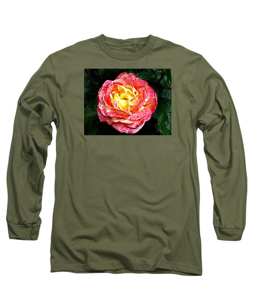 Long Sleeve T-Shirt featuring the photograph Hybrid Tea Rose ' Love And Peace ' by William Tanneberger