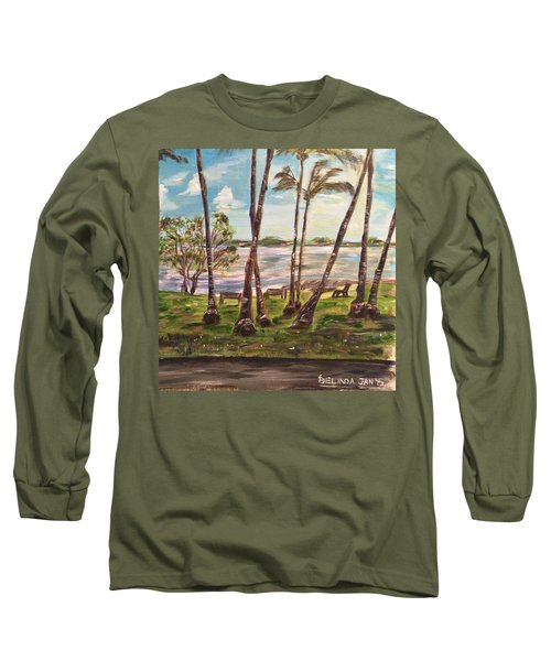 Long Sleeve T-Shirt featuring the painting I Am Always With You by Belinda Low
