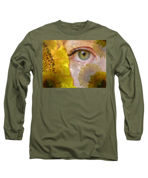 I See Sunflowers Long Sleeve T-Shirt