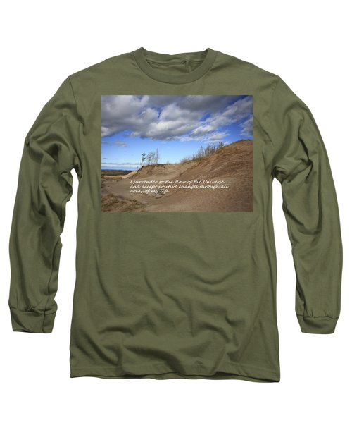 Long Sleeve T-Shirt featuring the photograph I Surrender To The Flow Of The Universe by Patrice Zinck