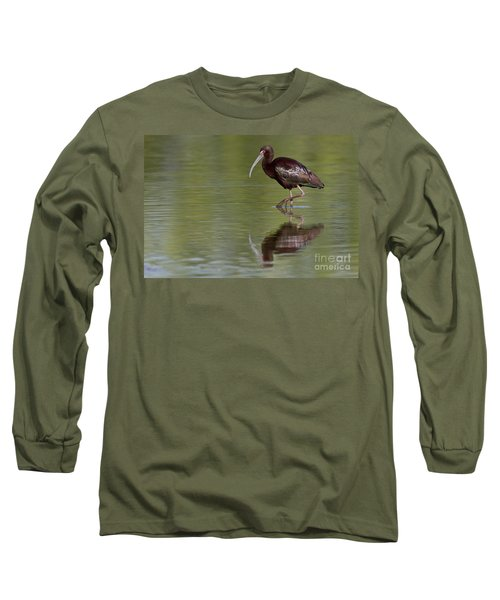Ibis Reflection Long Sleeve T-Shirt by Bryan Keil