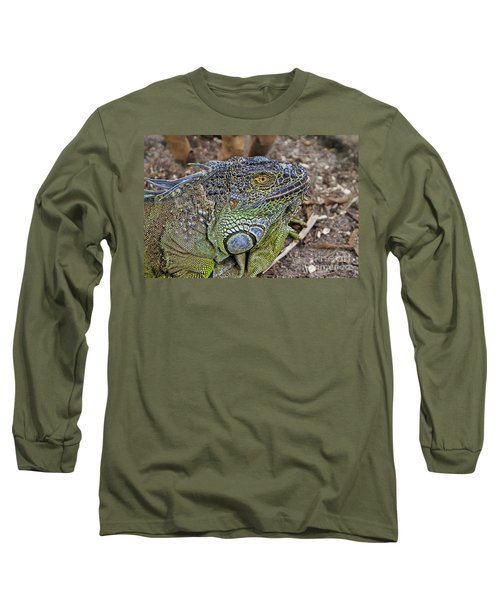 Long Sleeve T-Shirt featuring the photograph Iguana by Olga Hamilton