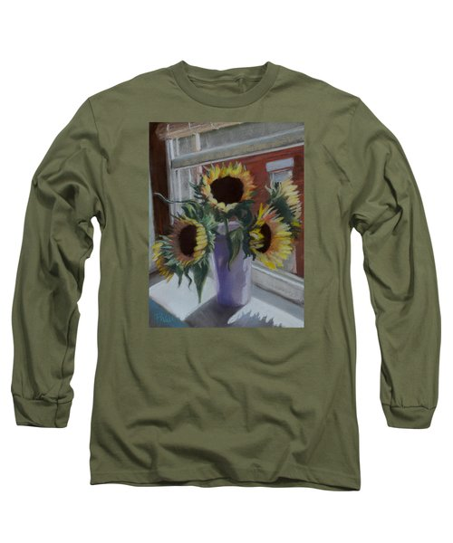 Long Sleeve T-Shirt featuring the pastel Illumine by Pattie Wall