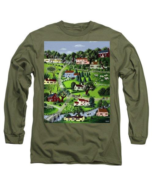 Illustration Of A Village Long Sleeve T-Shirt