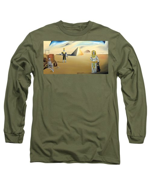 Long Sleeve T-Shirt featuring the painting Immortality by Ryan Demaree