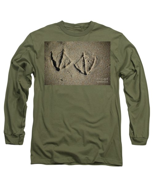 Long Sleeve T-Shirt featuring the photograph Imprints by Christiane Hellner-OBrien