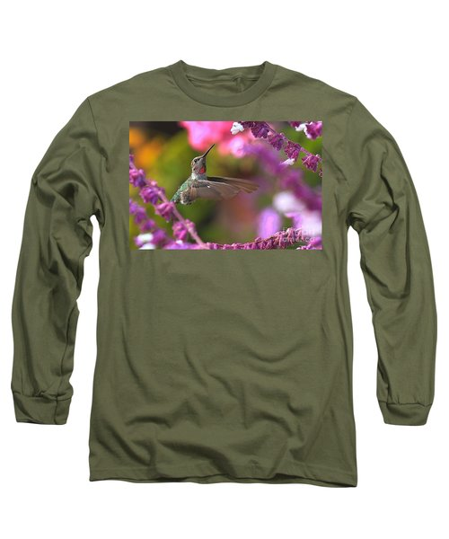 In Between Meals Long Sleeve T-Shirt by Adam Jewell
