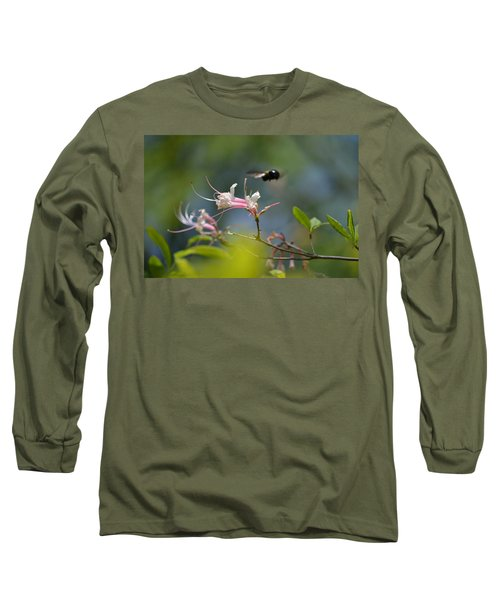 Long Sleeve T-Shirt featuring the photograph In Flight by Tara Potts