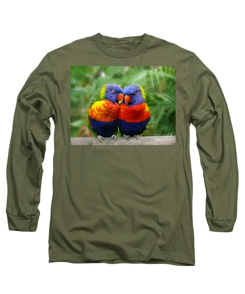 In Love Lorikeets Long Sleeve T-Shirt