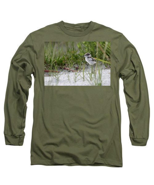 In The Grass - Wilson's Plover Chick Long Sleeve T-Shirt