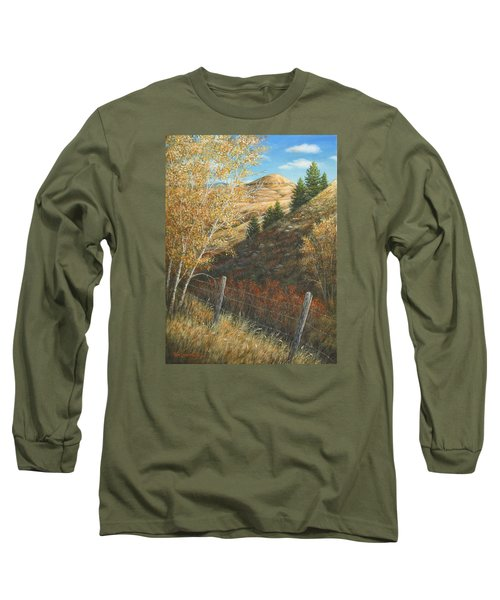 Long Sleeve T-Shirt featuring the painting In The Shadow Of Belt Butte by Kim Lockman