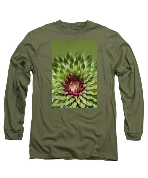 Long Sleeve T-Shirt featuring the photograph In Thistle's Heart by Simona Ghidini