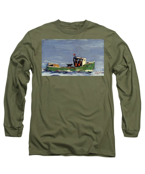 Long Sleeve T-Shirt featuring the painting In Tow by Molly Poole