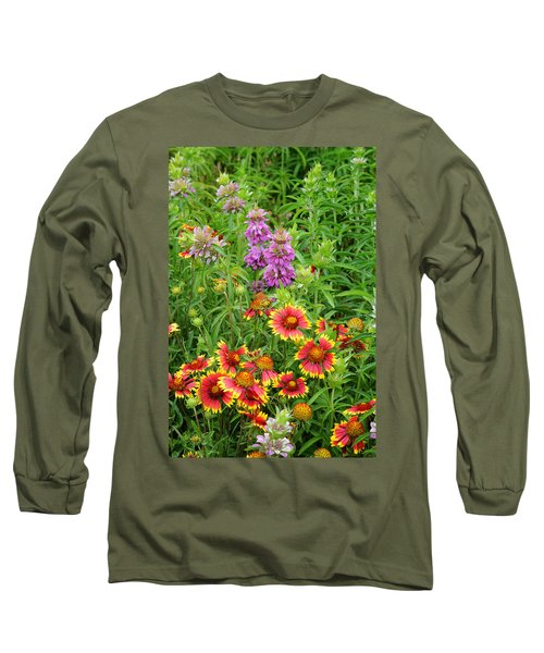 Indian Blankets And Lemon Horsemint Long Sleeve T-Shirt