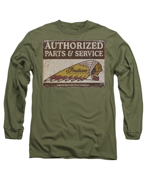 Indian Motorcycle Sign Long Sleeve T-Shirt