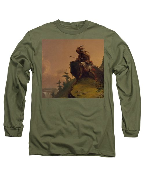 Indian On A Cliff Long Sleeve T-Shirt