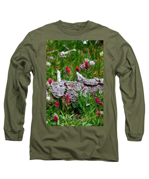 Long Sleeve T-Shirt featuring the photograph Indian Paintbrush by Ronda Kimbrow