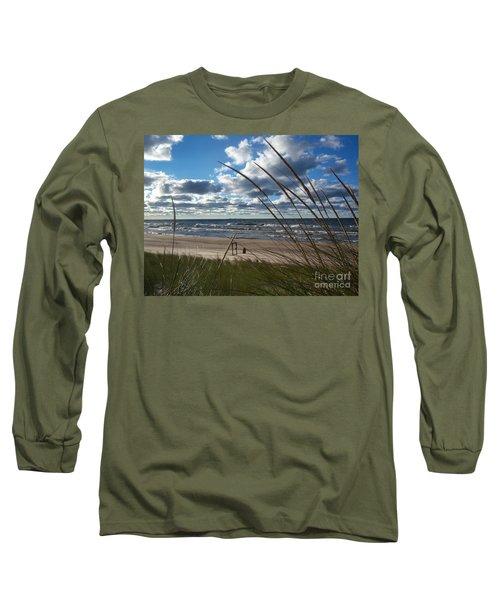 Indiana Dunes' Lake Michigan Long Sleeve T-Shirt by Pamela Clements