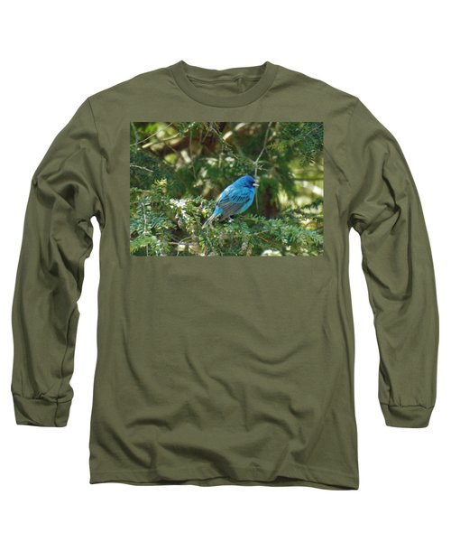 Indigo Bunting Visit Long Sleeve T-Shirt