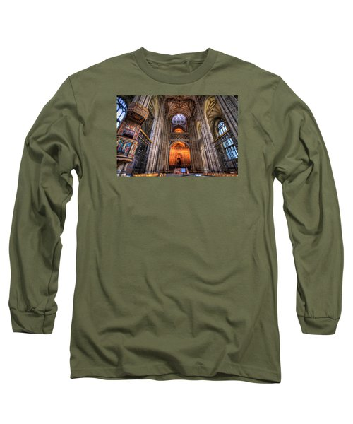Long Sleeve T-Shirt featuring the photograph Inside Canterbury Cathedral by Tim Stanley