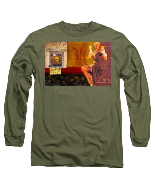 Long Sleeve T-Shirt featuring the mixed media Inspected by Desiree Paquette