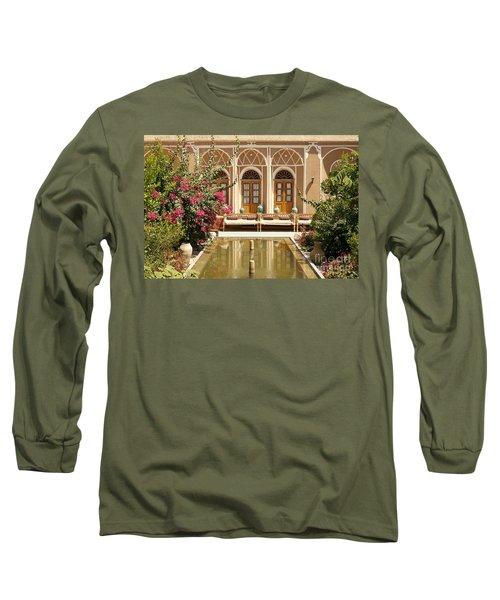 Interior Garden With Pond In Yazd Iran Long Sleeve T-Shirt