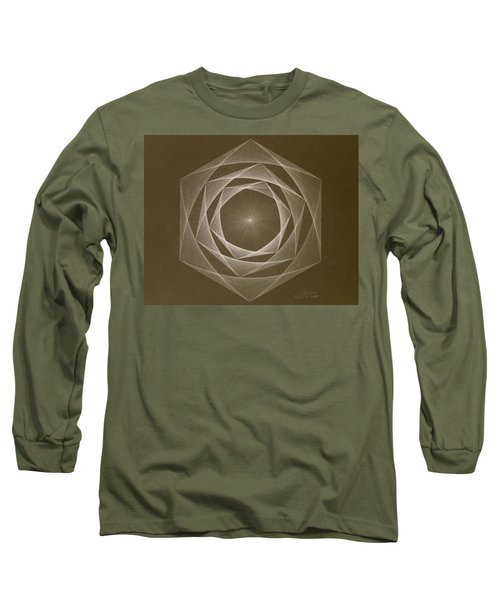 Inverted Energy Spiral Long Sleeve T-Shirt