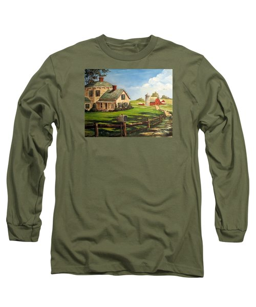 Iowa Farm Long Sleeve T-Shirt by Lee Piper