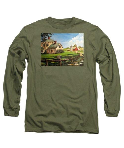 Cherokee Iowa Farm House Long Sleeve T-Shirt