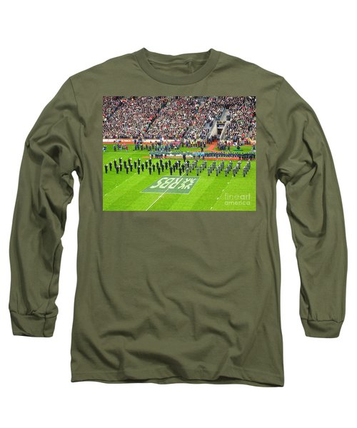 Long Sleeve T-Shirt featuring the photograph Ireland Vs France by Suzanne Oesterling