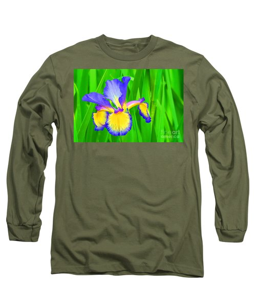 Iris Blossom Long Sleeve T-Shirt