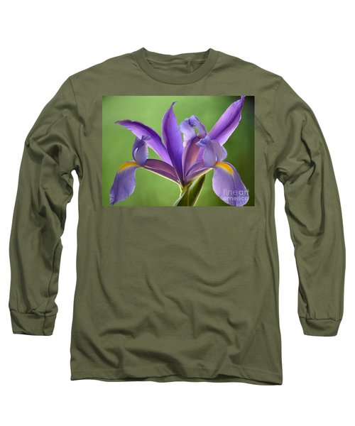 Iris Elegance Long Sleeve T-Shirt by Deb Halloran