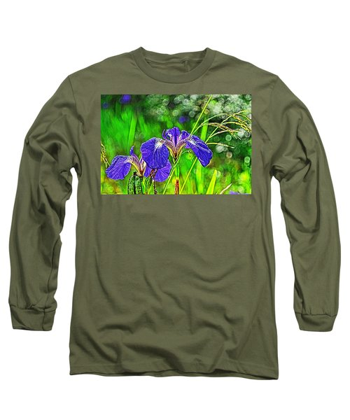 Long Sleeve T-Shirt featuring the photograph Irises by Cathy Mahnke