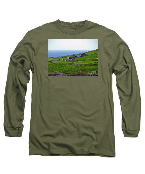 Irish Farm 1 Long Sleeve T-Shirt by Patricia Griffin Brett